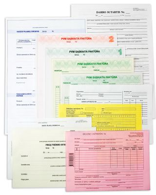Bar invoices